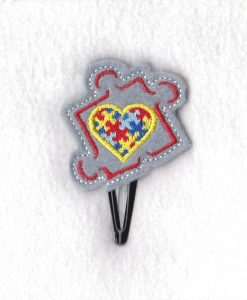puzzle detail puzzle piece border puzzled heart middle embroidery design support autism awareness feltie