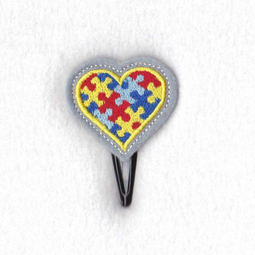 colored colorful puzzle detail puzzled heart embroidery design support autism awareness feltie