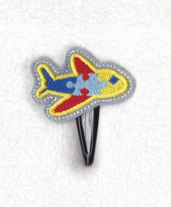 puzzle detail puzzled plane aeroplane airplane boeing embroidery design support autism awareness feltie