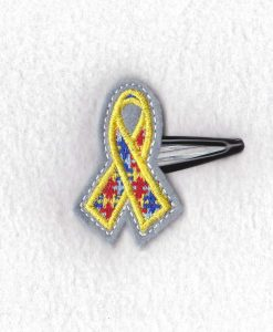puzzle detail puzzled support ribbon embroidery design support autism awareness feltie