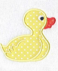 yellow orange rubber duck duckie ducky applique machine embroidery design instant download