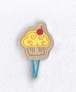 feltie cupcake cookie iced icing red cherry decorated applique embroidery design