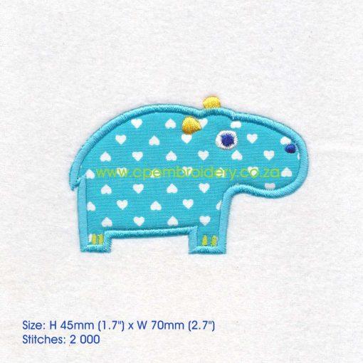 applique african animals zoo safari hippo seekoei instant download machine embroidery design small