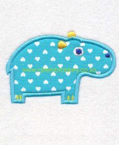 applique african animals zoo safari rhino renoster instant download machine embroidery design