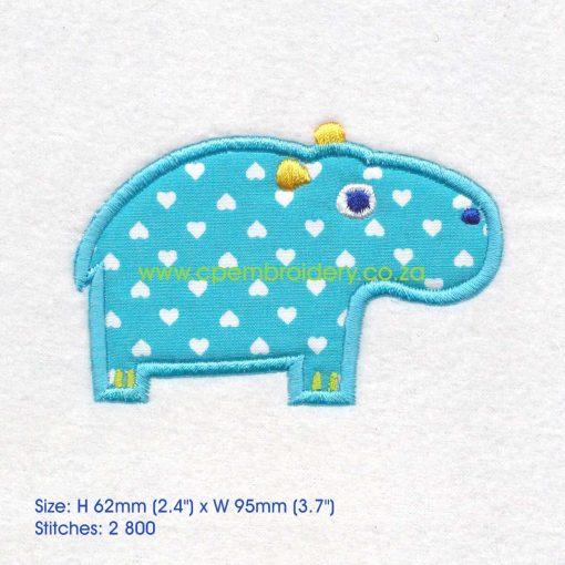 applique african animals zoo safari hippo seekoei instant download machine embroidery design medium