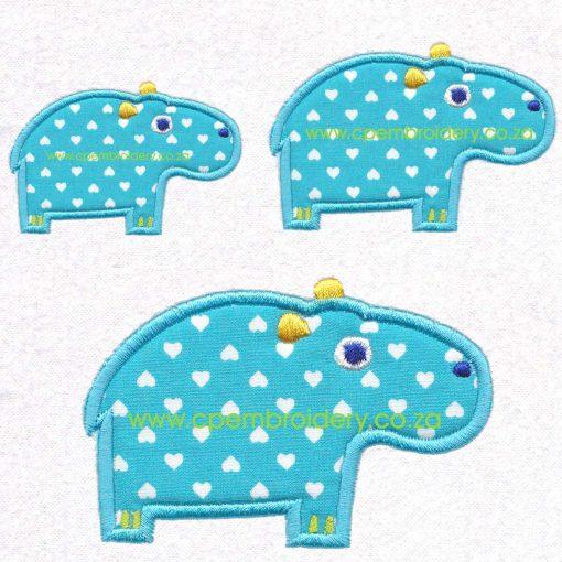 applique african animals zoo safari hippo seekoei instant download machine embroidery design set sizes