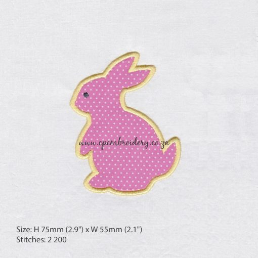 bunny rabbit hare appliqué haas hasie easter paashaas embroidery design borduur ontwerp small