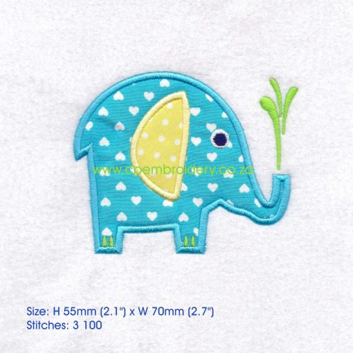 applique african animals zoo safari olifant elephant instant download machine embroidery design small