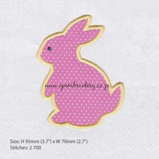bunny rabbit hare appliqué haas hasie easter paashaas embroidery design borduur ontwerp medium