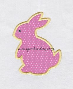 bunny rabbit hare appliqué haas hasie easter paashaas embroidery design borduur ontwerp