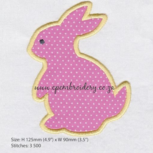 bunny rabbit hare appliqué haas hasie easter paashaas embroidery design borduur ontwerp large