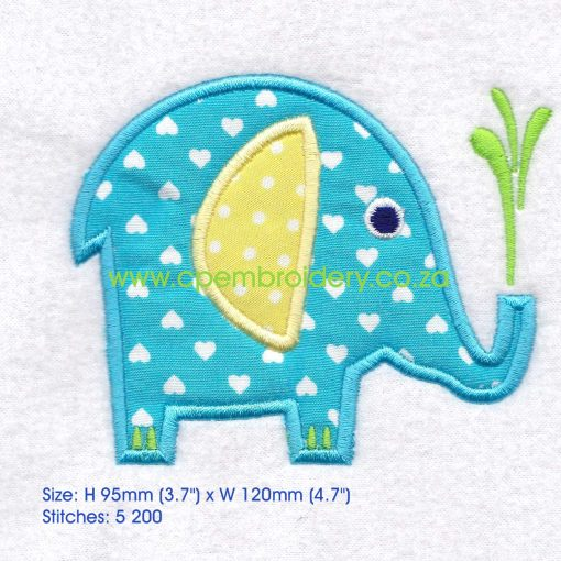 applique african animals zoo safari olifant elephant instant download machine embroidery design large