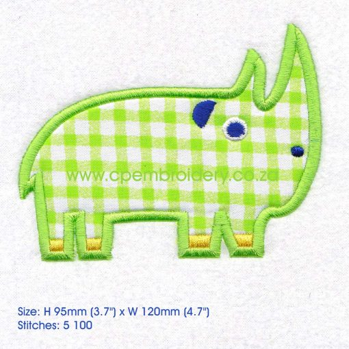 applique african animals zoo safari rhino renoster instant download machine embroidery design large