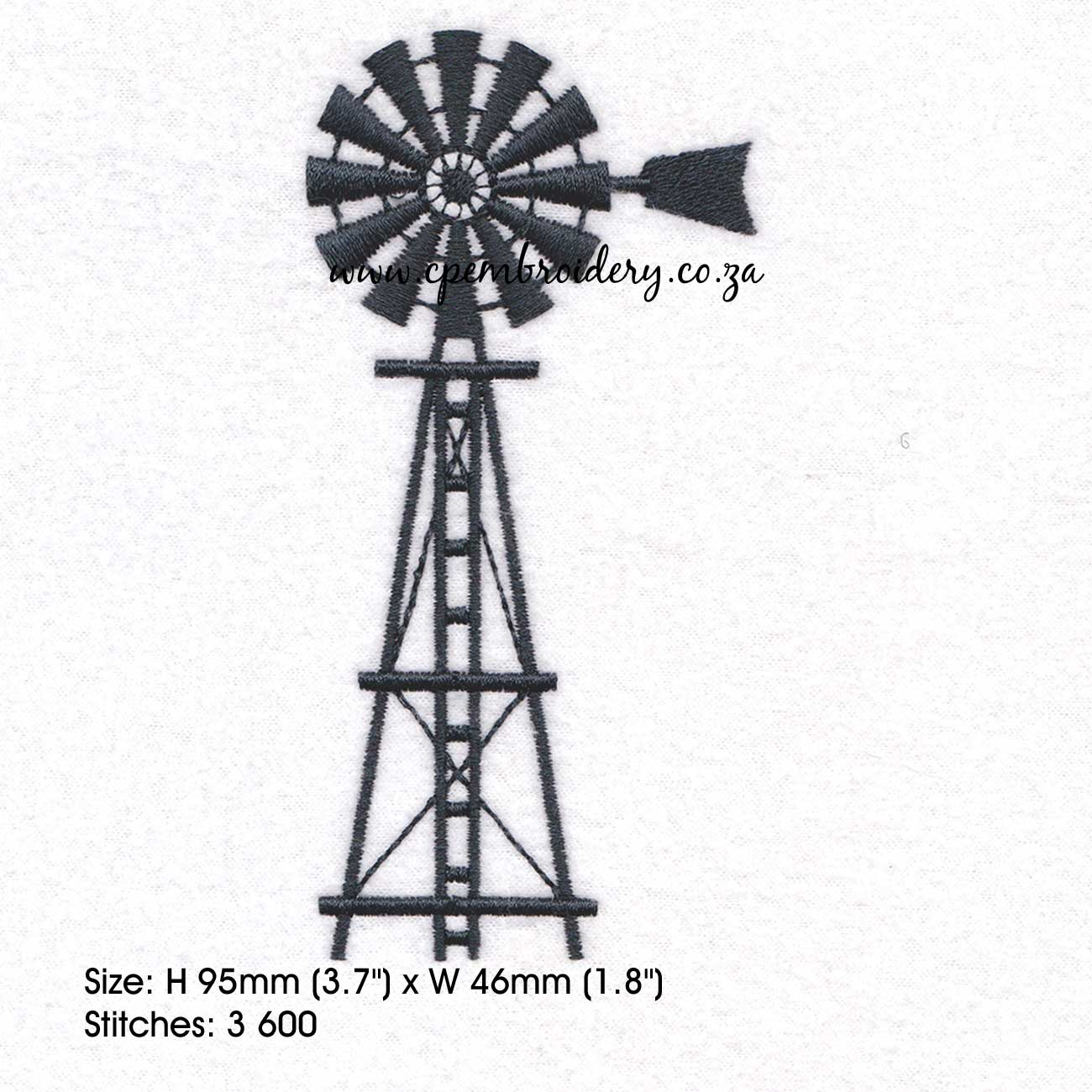 Farm Windmill With Ladder Couture Princess Embroidery