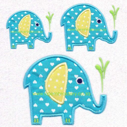 elephant olifant instant direct download machine embroidery design set sizes