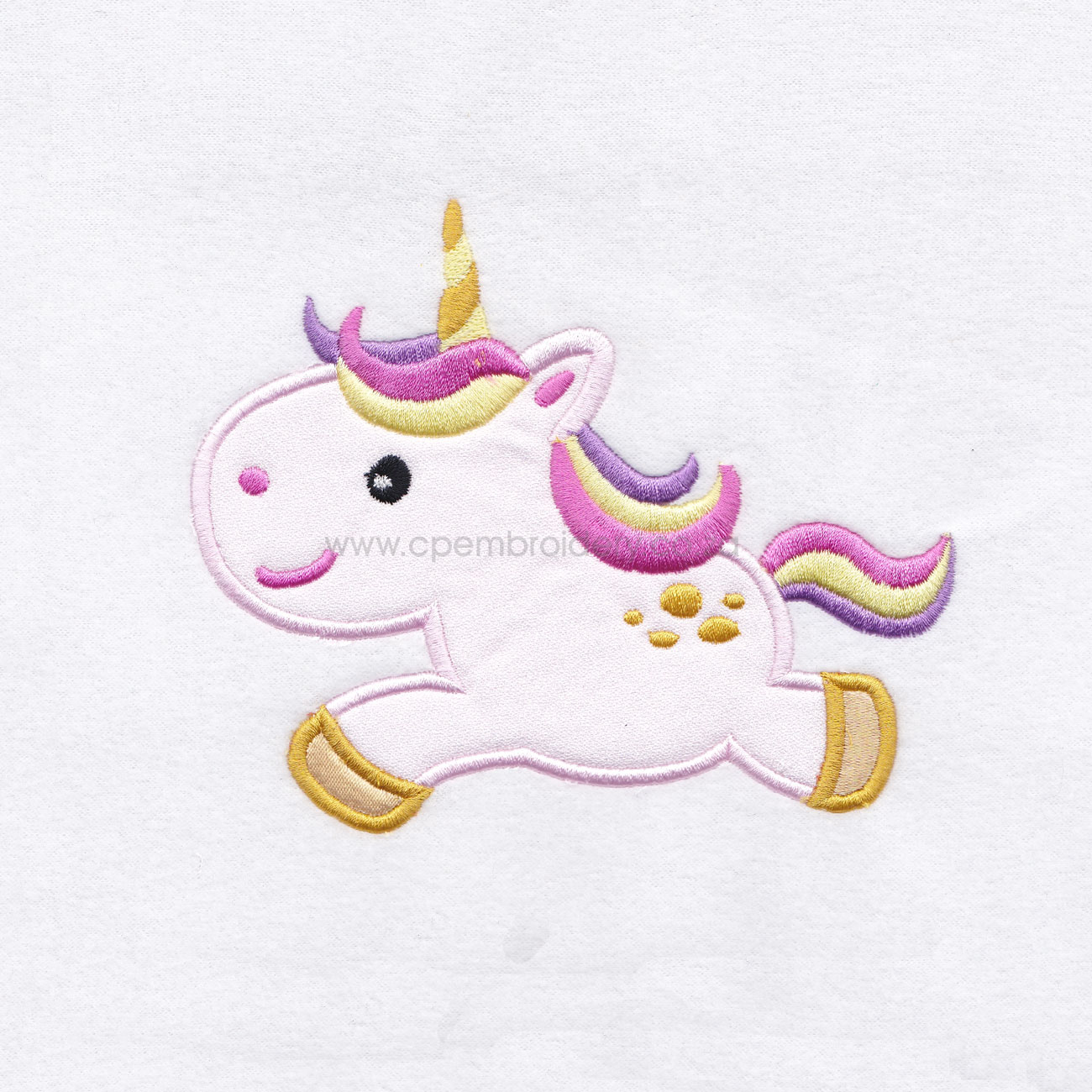 baby pony unicorn one horn mythical horse looking back machine embroidery download design