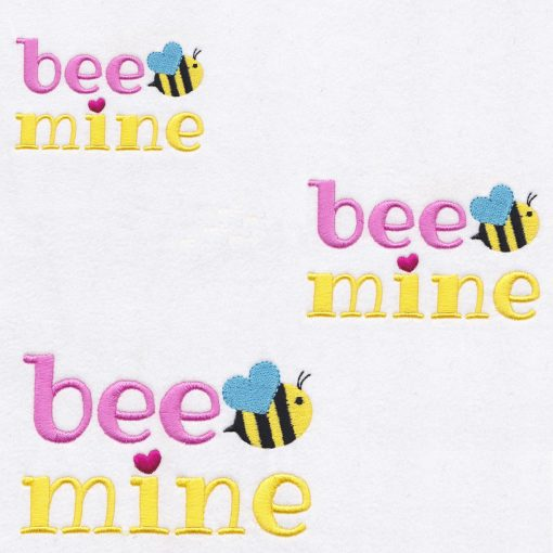 yellow pink bee wasp mine machine embroidery design size set three 3 cpembroidery
