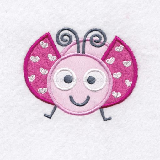pink gray grey bug ladybird ladybug heart wings big eyes love bug machine embroidery design download