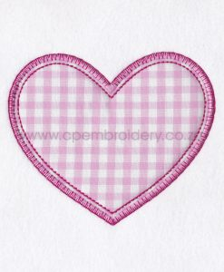 pink white gingham check blanket stitch download machine embroidery design