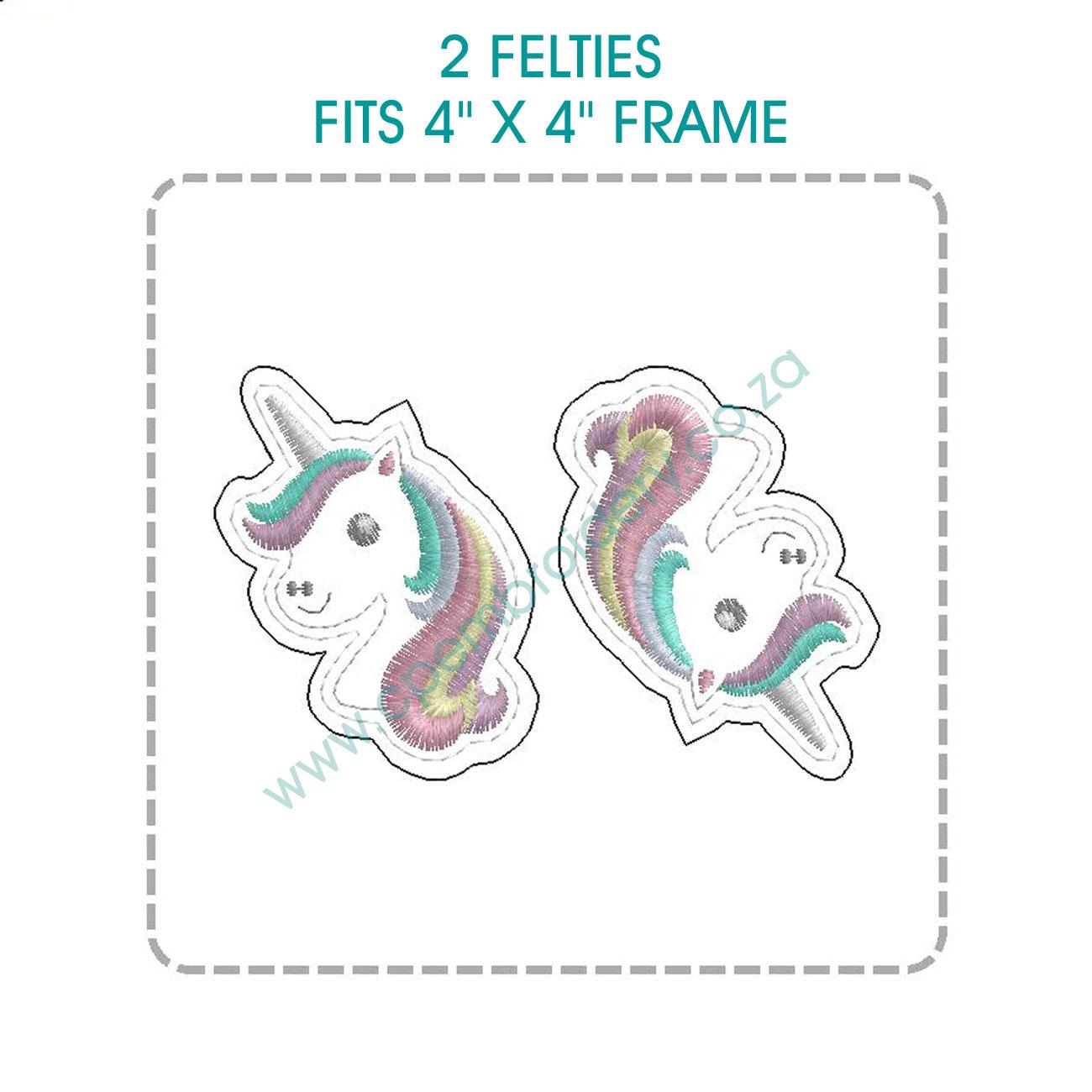 1c55290294690 Unicorn Head Feltie (ITH) In the Hoop Design