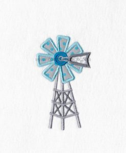 south african farm windmill windpomp gray blue teal applique machine embroidery download design
