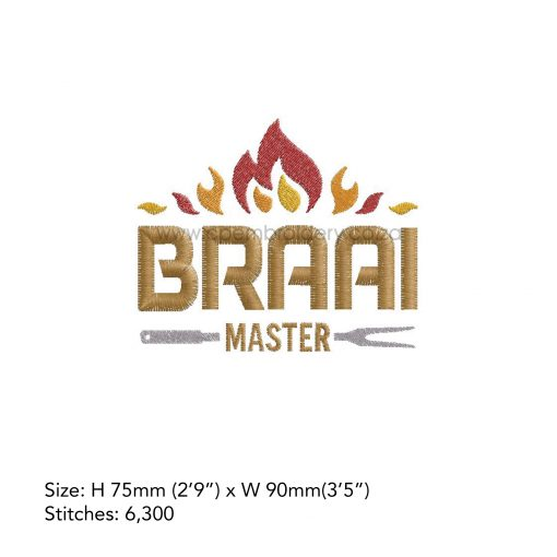 flames flamed top words braai master fork bbq grill machine embroidery download design file medium