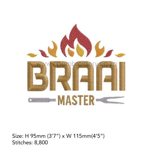 flames flamed top words braai master fork bbq grill machine embroidery download design file large