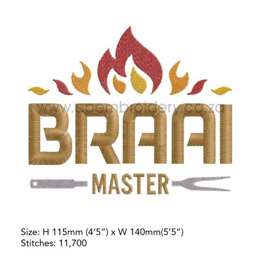 flames flamed top words braai master fork bbq grill machine embroidery download design file extra large