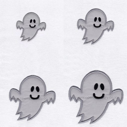 friendly smiling halloween funny ghost grey gray boy number 1 one applique machine embroidery download design file pattern pack set sizes