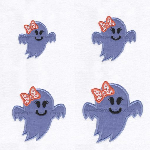 friendly smiling halloween funny ghost purple lilac orange bo ribbon girl number 1 one applique machine embroidery download design file pattern set pack