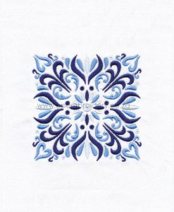 blue blocks mandala decorative embroidery designs pattern for machine number one 1 pillowcase duvet scatter cushion 78101