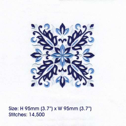 blue blocks mandala decorative embroidery designs pattern for machine number one 1 pillowcase duvet scatter cushion 781021