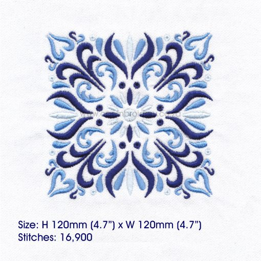 blue blocks mandala decorative embroidery designs pattern for machine number one 1 pillowcase duvet scatter cushion 781012