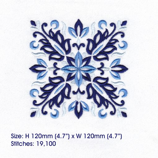 blue blocks mandala decorative embroidery designs pattern for machine number one 1 pillowcase duvet scatter cushion 781022