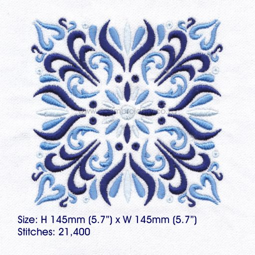 blue blocks mandala decorative embroidery designs pattern for machine number one 1 pillowcase duvet scatter cushion 781013