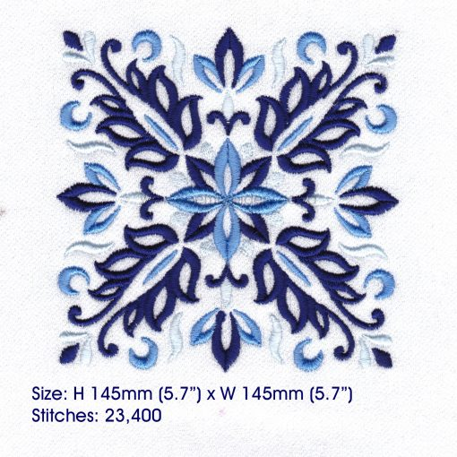 blue blocks mandala decorative embroidery designs pattern for machine number one 1 pillowcase duvet scatter cushion 781023