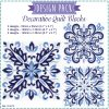 blue blocks decorative quilt quilting block embroidery designs pattern for machine number one 3 pillowcase duvet scatter cushion 781079